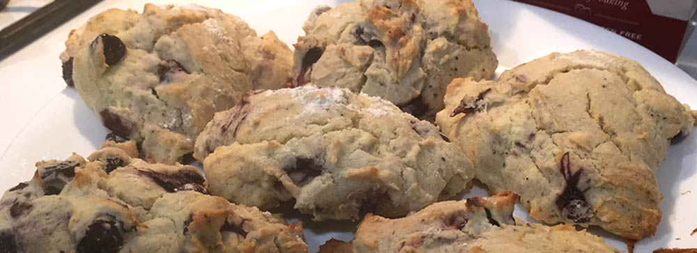 Gluten-Free Blueberry Scones with Stonewall Kitchen Traditional Scone Mix
